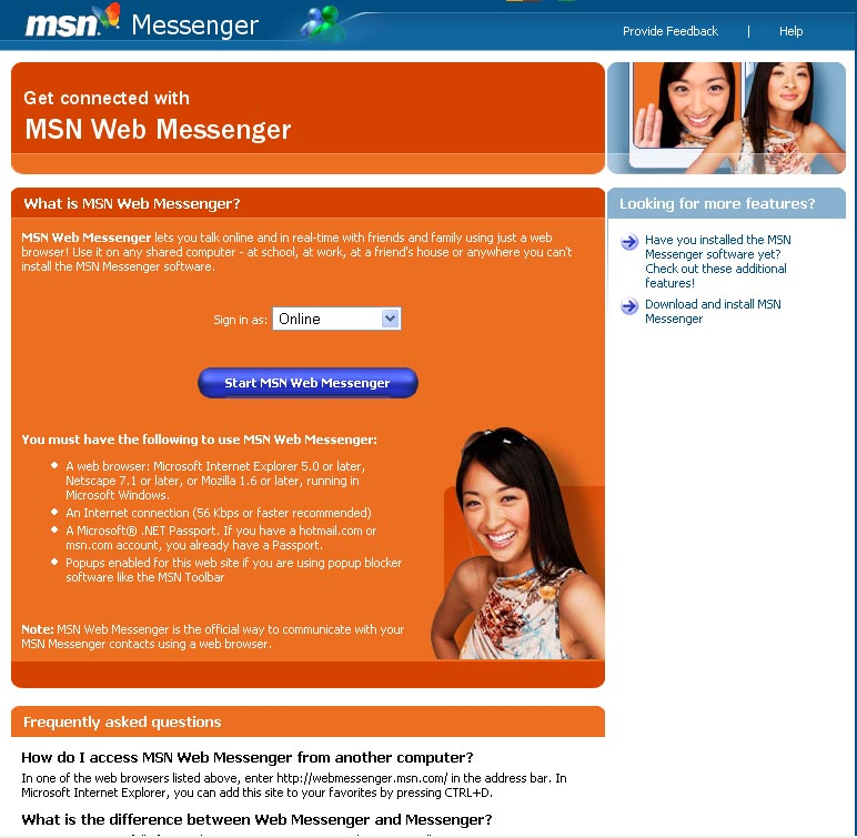 Free Download MSN Web Messenger